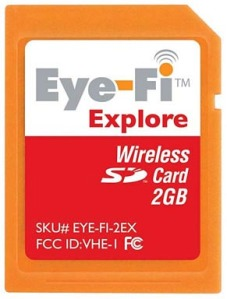 The Eye-Fi Explore memory card