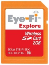 The Eye-Fi Explore memory card